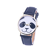 New Leather Strap Women Watch Fashion Panda Watch Geneva Quartz Watch Relogio Feminino