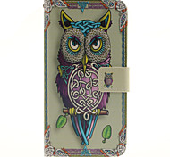 Cartoon owls Pattern PU Leather Full Body Case with Card Slot for Samsung Galaxy A9/A9000
