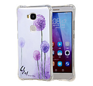 Dandelion dream Grainy Inner Shockproof Air as TPU soft shell cover Case for Huawei Honor 5X