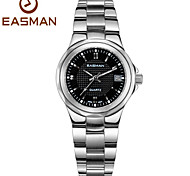 EASMAN Brands Watch Black Dress Date Waterproof Womens Ladies Watches Soild Steel Quartz Luxury Watches for Women
