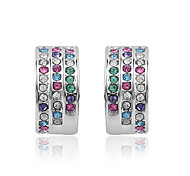 Full Crystal Stud Earrings for Women Earrings Fashion Jewelry Accessories