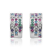 Full Crystal Stud Earrings for Women Earrings Fashion Jewelry Accessories