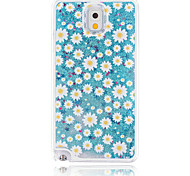 Little Daisy Painted Quicksand PC Phone Case For Samsung Galaxy Note3/Note4/Note5 + A Touch Screen Pen