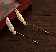 Fashion Long Small Plume  Brooch