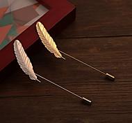 forma longo broche pluma pequena