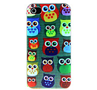 Colored Owl Pattern Hard Case for iPhone 4/4S