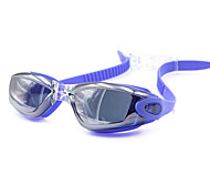 Swimming Goggles Unisex Waterproof Silica Gel PC Gray / Black / Blue / White Red / Gray / Black / Blue / Dark Blue / Purple