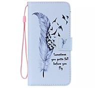 Wild Goose Feather Painted PU Phone Case for ipod touch5/6