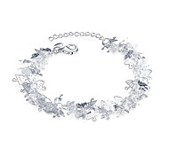 Lureme® Lovely Silver Plated Delicacy Umbrella Charm Bracelets for Teen Girl