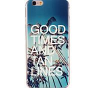 buenos tiempos de la palmera& moreno patrón de líneas de TPU caso suave de la contraportada para el iPhone 6 / 6s