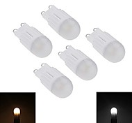 5pcs Ceramic Dimmable G9 3W 260LM 3000K/6000K Warm White/Cool White Light Lamp Bulb(AC200-240V)