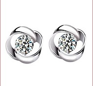 925 Silver Sterling Silver Jewelry Earrings Sample Weave Stud Earring 1Pair