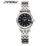 SINOBI Women's Fashion Watch Quartz Calendar Water Resistant / Water Proof Alloy Band Silver