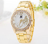 Ladies' Watch Casual Fashion Diamond Butterfly Pattern Steel Ladies Quartz Watch