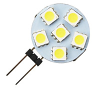 g4 1.2W 6-led 5050 warm wit ronde vorm led lamp