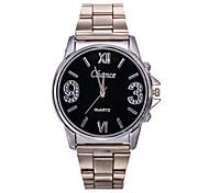 clásica de aleación de plata de la manera relojes de cuarzo banda de Vigilancia de la Atmósfera de la moda de los hombres