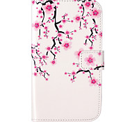Plum Flower Pattern Embossed PU Leather Case for Galaxy Grand Neo