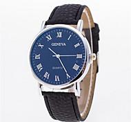 Men's Fashion Leather Band Quartz Analog Wrist Watch(Assorted Colors)