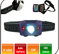Fishing Led Headlamp Bike Lights LED 4 Mode 180 lumens Waterproof / AAA Battery Camping/Cycling /Climbing