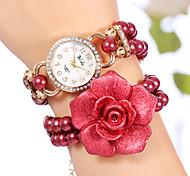 perline colorate ragazze yilisha ® bracciale bangle bracelet orologi vestito quarzo quadrante rotondo orologi gioielli ciondolo grande