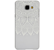 Lotus Pattern Frosted Transparent PC Phone Case for Samsung Galaxy A3/A5/A9/A3(2016)/A5(2016)/A7(2016)