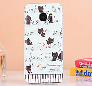 For Samsung Galaxy Case Embossed Case Back Cover Case Cartoon TPU Samsung S7 edge / S7