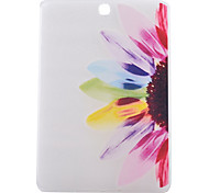 Sunflower Pattern PU Material Transparent Protective Case for Samsung T550/T560/T110/T230/T530