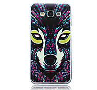 Wolf Pattern TPU Material Phone Case for Samsung Galaxy E5/E7