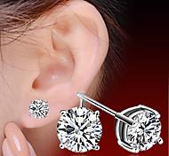 2016 Korean Unisex 925 Silver Sterling Silver Jewelry Earrings Sample Stud Earrings 1Pair