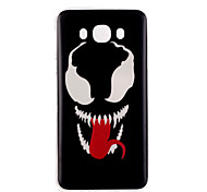 Laughing teeth Pattern TPU Soft Case for Galaxy J1 Ace/Galaxy J5(2016)/Galaxy J1(2016)