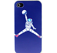 Fly on the Moon Pattern Hard Case for iPhone 4/4S