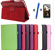 Fashion Top Quality Smart PU Leather Cover For Samsung Galaxy Tab 3 P3200 T210  Tablet Case+Free Screen Protector+ Pen