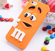 3D Colorful Candy Color Cute Lovely M&M Silicone Cell Phone Soft Case Cover For iPhone 6 Plus/6S Plus (Assorted Colors)