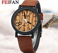 Simulation Wooden Watch Quartz Men Watches Casual Wooden Color Leather Strap Watch Wood Wristwatch Relogio Masculino