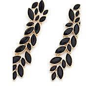 Drop Earrings Gemstone Rhinestone Alloy Statement Jewelry Fashion Luxury Jewelry White Black Jewelry 2pcs