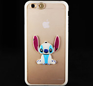 Glow in the Dark  Big Ear Rabbits PC Back Case with Strap for iphone6/6s