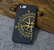 Black Wood iphone Case Compass the North Carving Concavo Convex Hard Back Cover for iPhone 5s/iphone 5