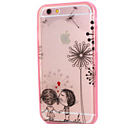 Children Playing Design LED Flicker Back Cover+Bumper Cover for IPhone 6/6S