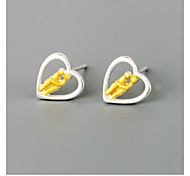 The New Product Selling 925 Silver Love Mutual Affinity Stud Earrings
