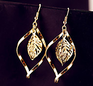 The Leaves Around The Popular Fashion Alloy Earrings Female Life