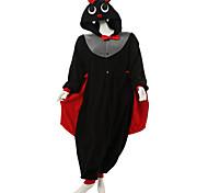 Kigurumi Pajamas Bat Leotard/Onesie Halloween Animal Sleepwear Black Patchwork Polar Fleece Kigurumi Unisex Halloween / Carnival