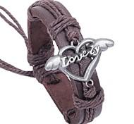 Bracelet- enAlliage / Cuir-Vintage / Mignon / Soirée / Travail / Décontracté-Tressé / Cordon / Cuir