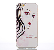 Sister Face Pattern TPU Material Phone Case for iPhone 6/6S