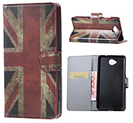 UK Flag Magnetic PU Leather wallet Flip Stand Case cover for Microsoft Lumia 650