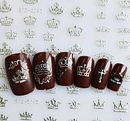 1pcs  12 Designs 3d Stickers Gold/Silver Imperial Crown Sticker Nail Art  DIY Decals STZ001-012DS