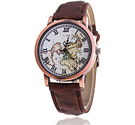 Women's Fashion Leather Band Quartz Analog Wrist Watch(Assorted Colors)