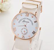 reloj de señoras ginebra nueva escala simple ultra-delgado reloj de cuarzo de la correa