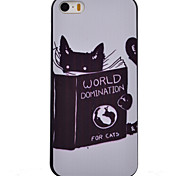 Cute Cat Pattern Black TPU Soft Case Phone Case for iPhone 5/5S