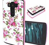 2-in-1 Rose Pattern TPU Back Cover with PC Bumper Shockproof Soft Case for LG V10/G4 Pro