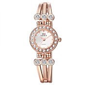 Women's Fashion Watch Bracelet Watch Quartz Alloy Band Elegant Gold